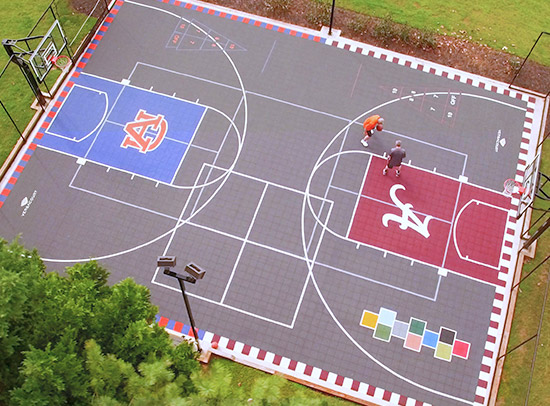 custom designed game court